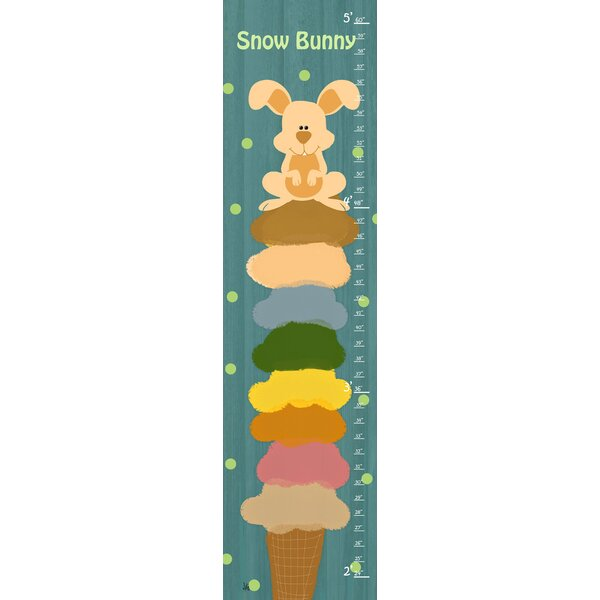 Bunny Ice Cream Personalized Growth Chart by Green Leaf Art