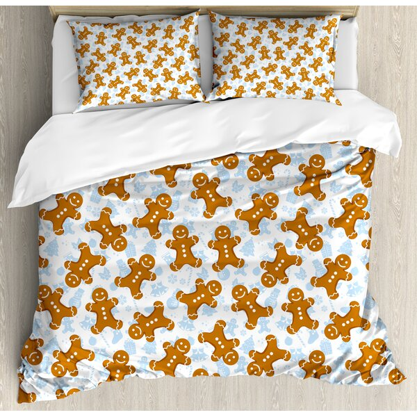 Gingerbread Man Duvet Cover Set by Ambesonne