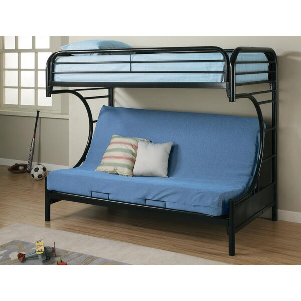 Hanish Twin Over Full Futon Bunk Bed by Zoomie Kids
