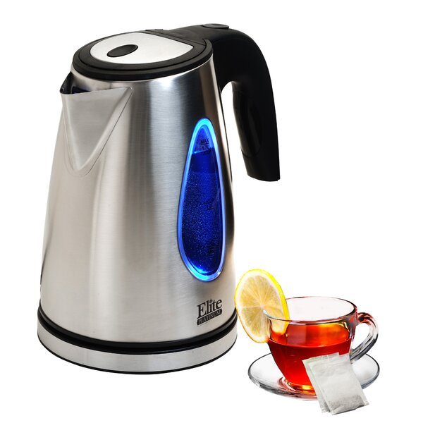 Platinum 1.7 Qt. Stainless Steel Electric Tea Kettle by Elite by Maxi-Matic