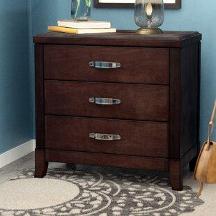 cherry wood nightstand. Mcduffie 3 Drawer Nightstand With Power And USB Cherry Wood