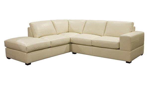 Brady Leather Sectional by Coja