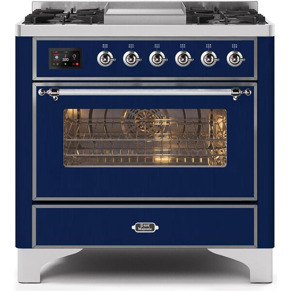 Majestic II Series 36 3.55 cu ft. Freestanding Dual Fuel Range with Griddle