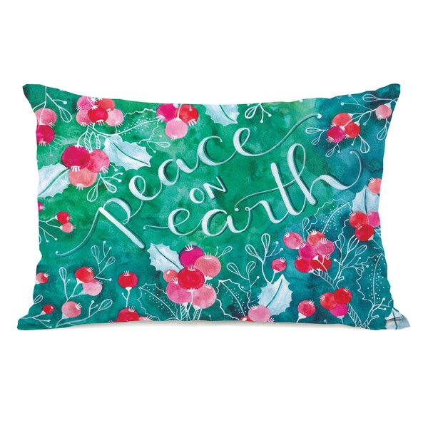 Peace On Earth Lumbar Pillow by One Bella Casa