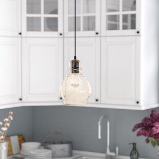Reviews Pruett 1-Light  LED Globe Pendant By Gracie Oaks