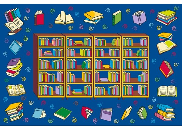 Fun Time Reading Time Area Rug by Fun Rugs