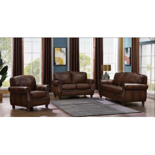 Montbrook 3 Piece Genuine Leather Living Room Set by SAC
