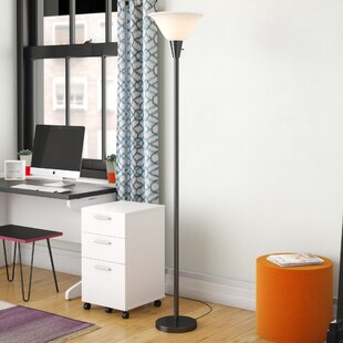 Reviews Lauring 75.5 Torchiere Floor Lamp By Ebern Designs