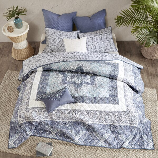 Jaden Cotton 7 Piece Coverlet Set by Mistana