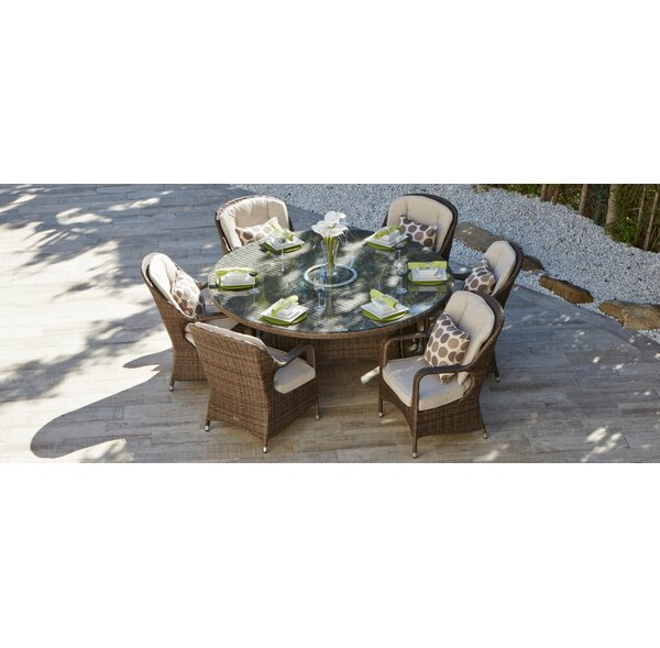 Tooley 7 Piece Dining Set with Cushion by Red Barrel Studio
