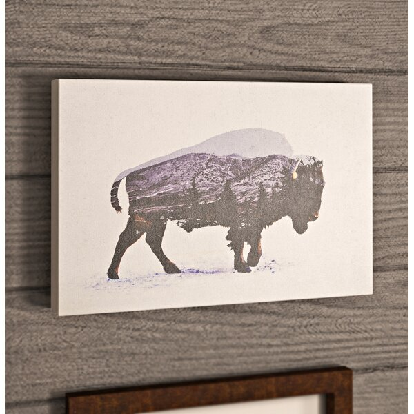 The American Bison Graphic Art on Wrapped Canvas by Loon Peak