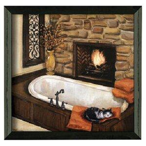 'Fireplace Escape II' Framed Painting Print by Fleur De Lis Living