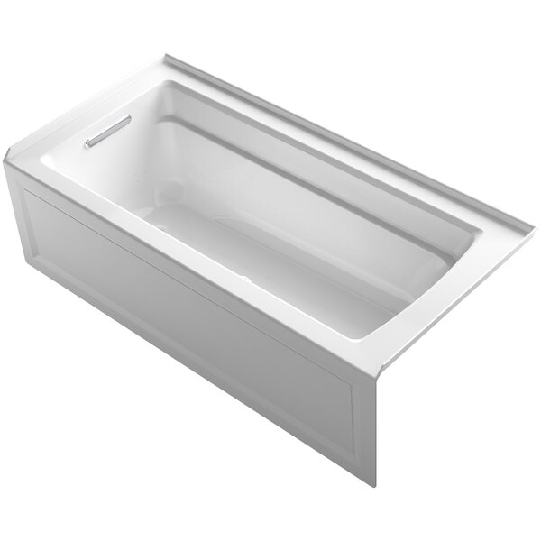 Archer BubbleMassage™ Whirlpool Bath with Integral Apron and Left-Hand Drain by Kohler