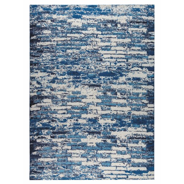 Fargo Hand-Woven Blue Area Rug by M.A. Trading