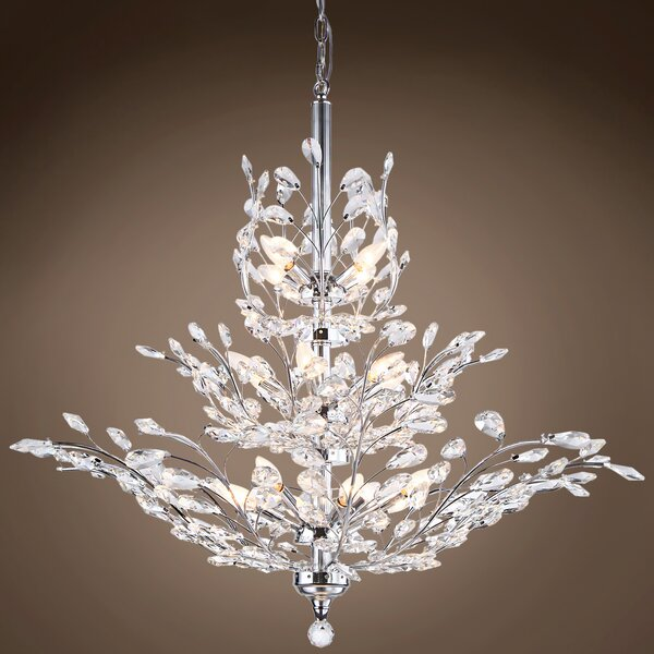 Mefford 13-Light Candle Style Tiered Chandelier By House Of Hampton