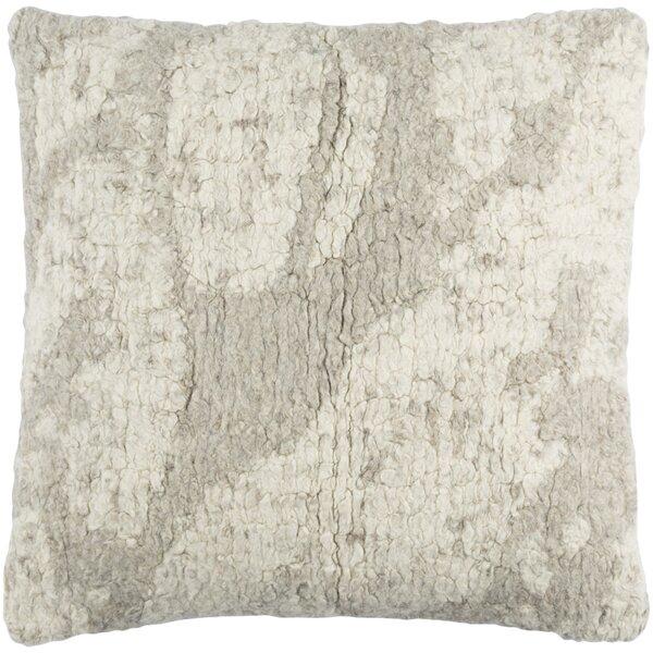 Agathon Wool Throw Pillow by Brayden Studio