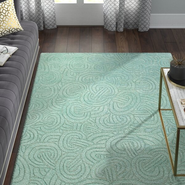 Damiana Abstract Hand Woven Blue Area Rug by Willa Arlo Interiors