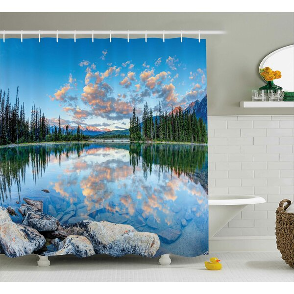 Nature Golden Sunrise Scenery Shower Curtain by East Urban Home