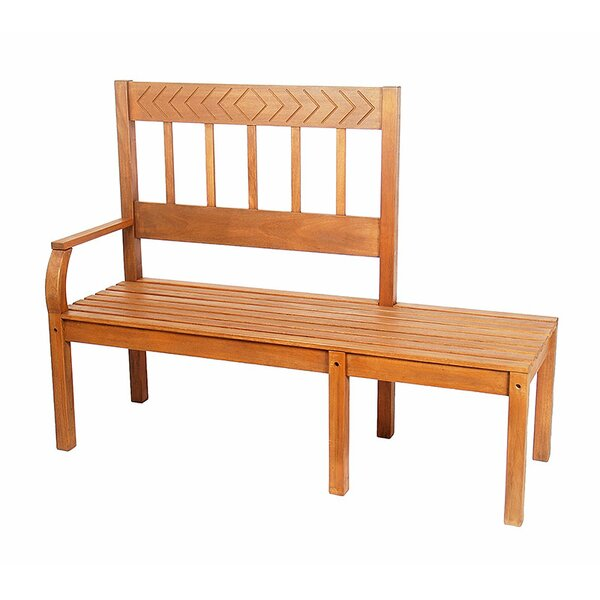 Vaughn Wooden Tete-a-Tete Bench by Charlton Home Charlton Home
