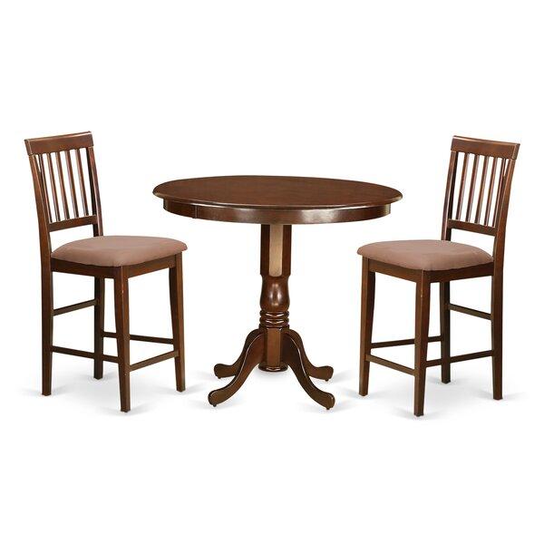 Trenton 3 Piece Pub Table Set by Wooden Importers