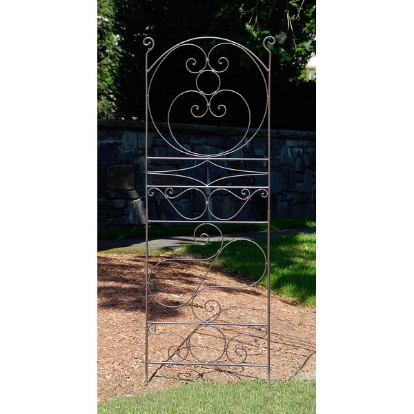 Ferro Firenze Iron Arched Trellis by ACHLA