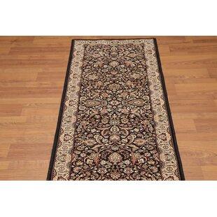 Inexpensive Carlene Traditional Wool Black/Beige/Burgundy Area Rug ByDarby Home Co