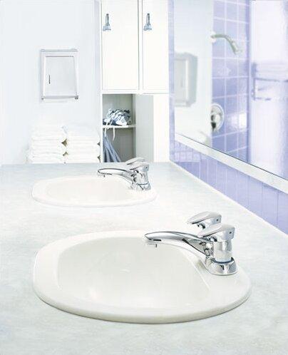 M-PRESS Two Handle Centerset Bathroom Faucet by Moen