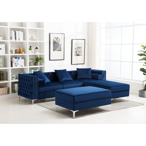 Marciano Reversible Modular Sectional With Ottoman By Rosdorf Park