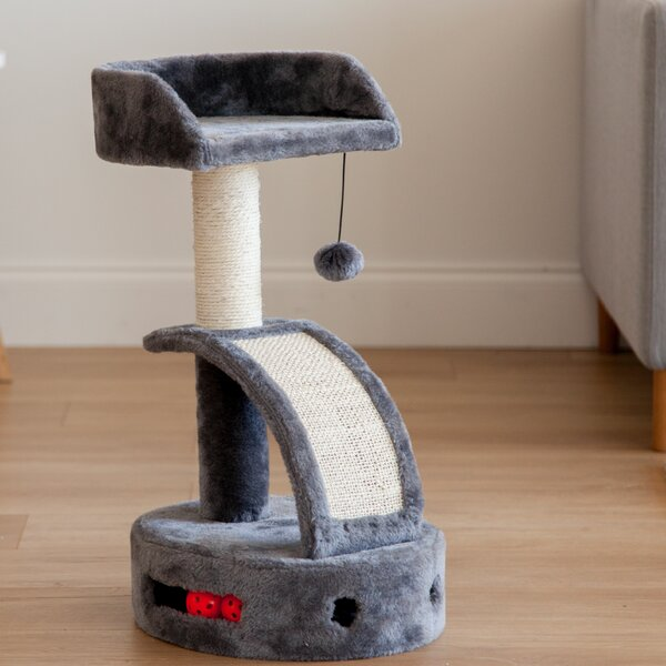 24 Plush Cat Perch with Dangling Toy by IRIS USA,