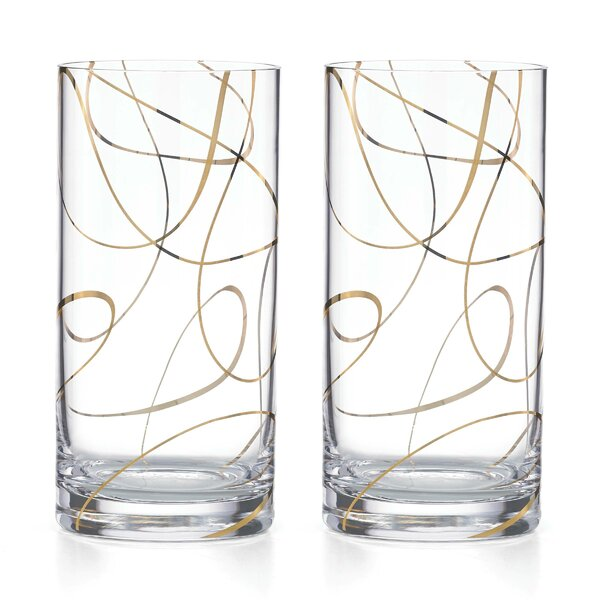 Kate Spade New York Mulberry Street Highball Glasses (Set of 2) by kate spade new york