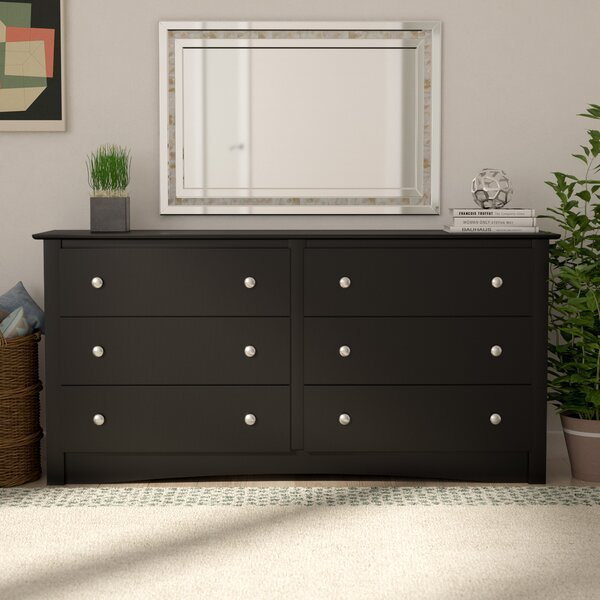 Best Choices Wanda 6 Drawer Double Dresser By Latitude Run Purchase