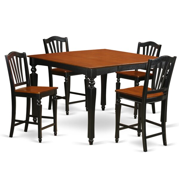 Ashworth 5 Piece Pub Table Set by Darby Home Co