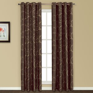 Sinclair Geometric Semi Sheer Grommet Curtain Panel