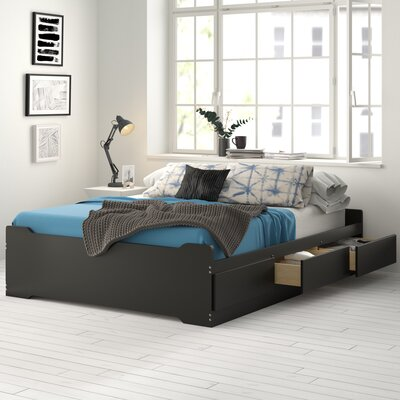 Oleanna Storage Platform Bed Zipcode Design? Color: Espresso, Size: Queen