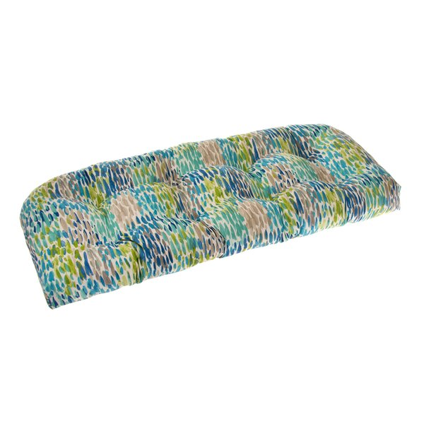 Wicker Indoor/Outdoor Loveseat Cushion By Rosecliff Heights