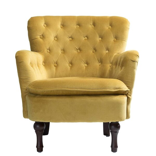 Didonato Velvet Tufted Upholstered Armchair by Charlton Home