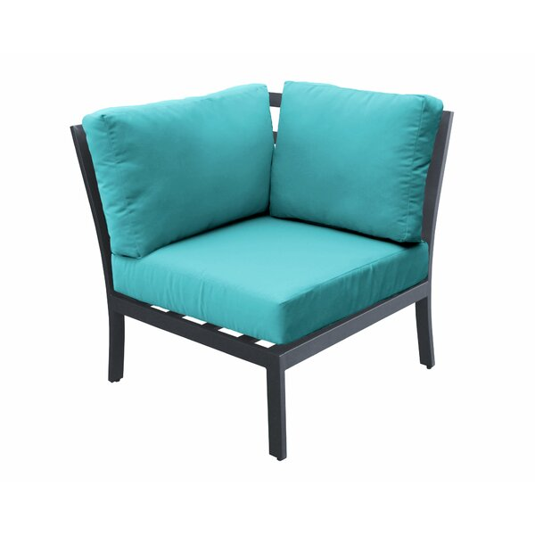Kamps Corner Patio Chair with Cushions by Wrought Studio