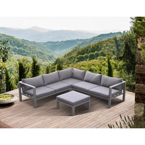 Kovary 4 Piece Sectional Set with Cushions by Orren Ellis