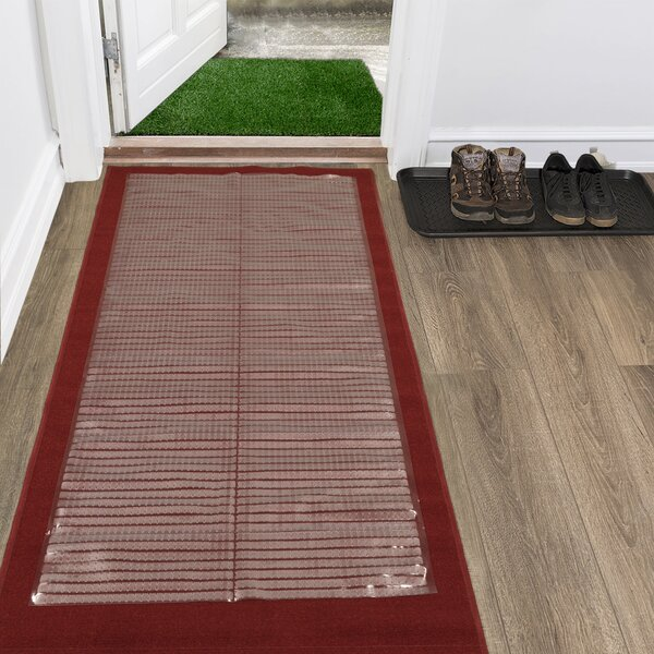 Multi Grip Ribbed Protector Clear Rug Pad by Symple Stuff