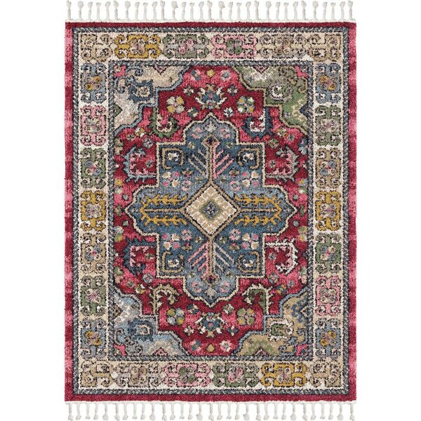 Iowa Park Medallion Saffron/Blue Area Rug by Bungalow Rose
