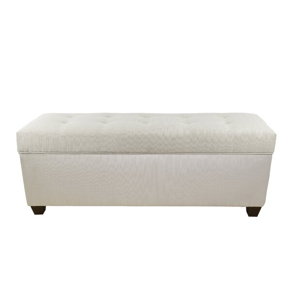 Hearns Button Tufted Upholstered Storage Bench by Alcott Hill