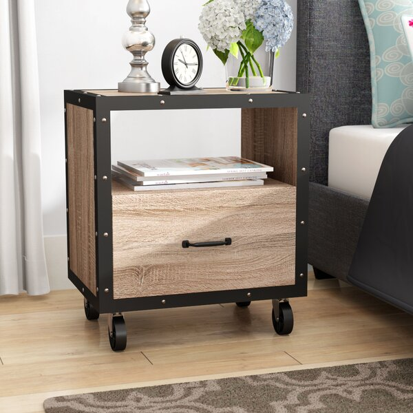 Kaylani 1 Drawer Nightstand by Grovelane Teen
