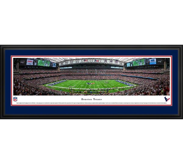 NFL Houston Texans 50 Yard Line Framed Photographic Print by Blakeway Worldwide Panoramas, Inc