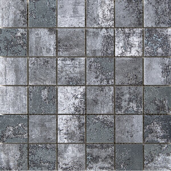 Chemistry 2 x 2 Porcelain Metal Look Tile in Gray by Emser Tile