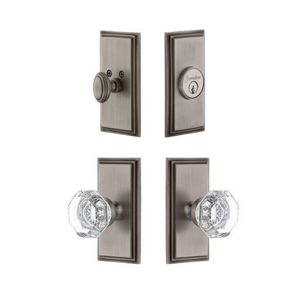 Carre Single Cylinder Knob Combo Pack by Grandeur