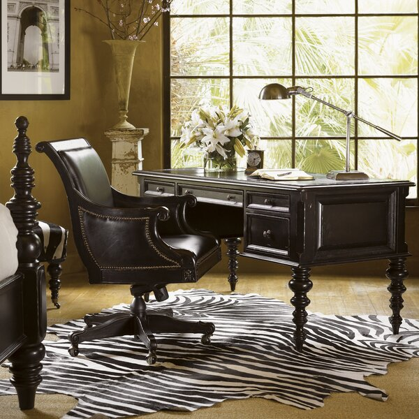 Kingstown Standard Solid Wood Executive Desk and Chair Set