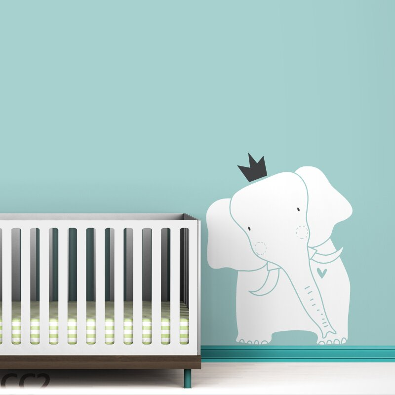 Baby Zoo King Elephant Wall Decal Reviews AllModern - Elephant wall decals