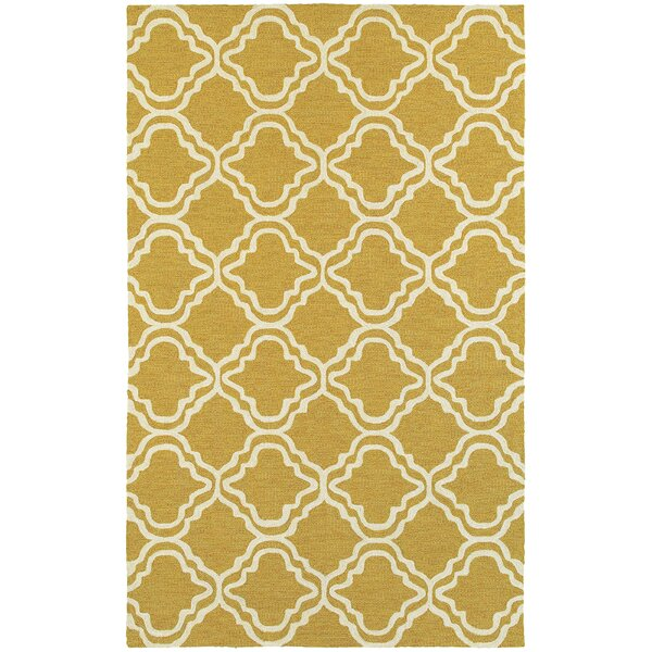 Atrium Trellis Panel Gold & Ivory Indoor/Outdoor Area Rug by Tommy Bahama Home