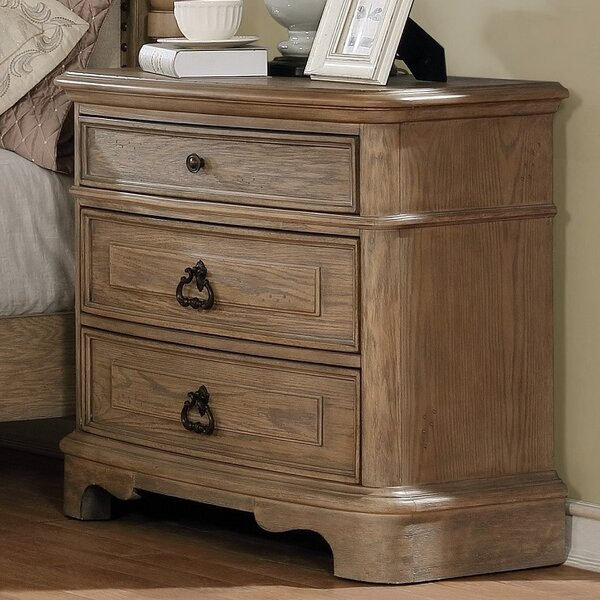 Pennington 3 Drawer Nightstand by One Allium Way