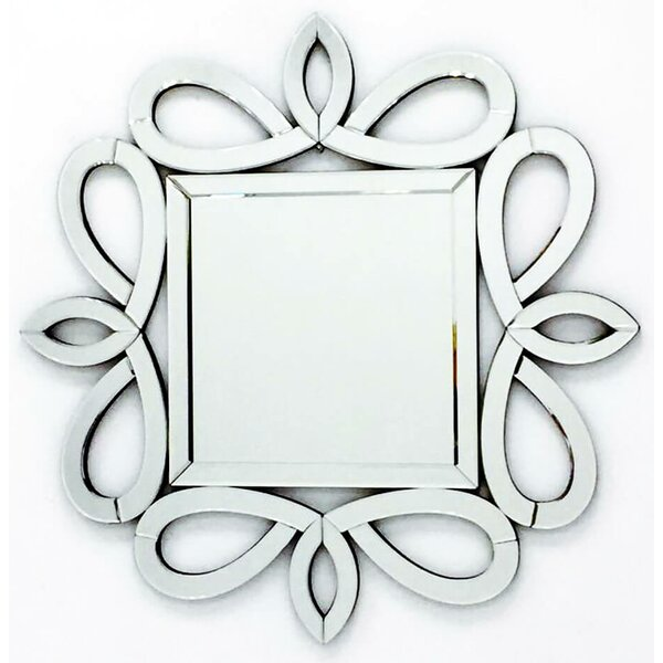 The Kensington Stylish Frame Square Decorative Wall Mirror by Fab Glass and Mirror